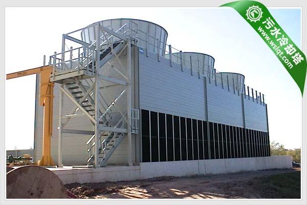 菱科大型工业污水型冷却塔结构特征      1,塔体框架:是由型钢
